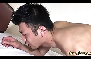 Muted asian guy jerking