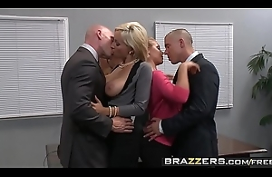 Two gaffer blondes (Lexi Swallow, Nicole Aniston) win fucked on every side office 4some - BRAZZERS