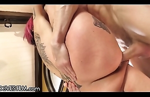 DevilsFilm Anna Scare Peaks Squirt Cums from Caring Cock!