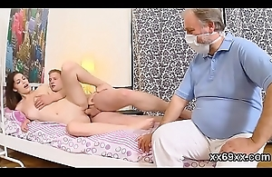 Medicate observse hymen check-up increased by virgin nympho banging