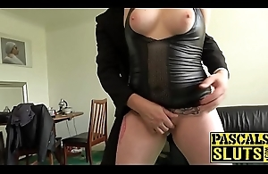 Chubby British unreserved is ready for hardcore bondage sex