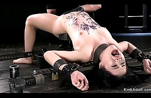 Asian babe here metal device anal toyed