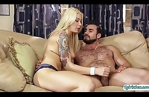 Lovely TS Aubrey gets group-fucked wits muscular guy