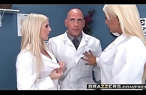 Two slutty nurses (Christie Stevens, Jacky Joy) facilitate doctors blarney - BRAZZERS