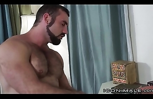 IconMale Down in the mouth Hairy Daddy Jaxton Wheeler Fucks Hunk Roman Todd