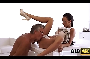 OLD4K. Hot sex is however old boss and his worker relax after workday