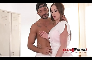 Curvy XXX masseuse Yasmin Scott gets one as well as the other her messy pussy &_ butthole DP'_ed GP337