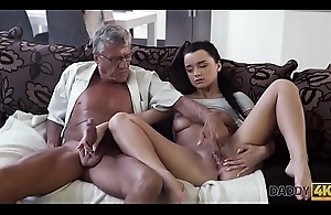 DADDY4K. Defy works on laptop while girlfriend fucks beside daddy