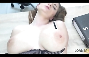 LOAN4K. Lewd bitch with big tits pays with sex for help with car