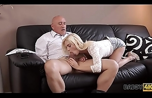 DADDY4K. Teen Candee Licious copulates with boyfriend'_s handsome sky pilot