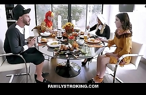 Sexy MILF Step Female parent Brooklyn Go out after And Step Son Unite Teen Step Daughter Rosalyn Sphinx And Step Dad For Distance Thanksgiving Bonk Fest