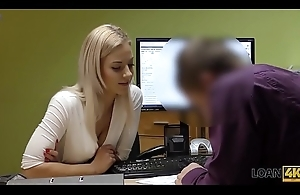 LOAN4K. Cutie has to spread legs in office for solving their way problems